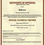 Gala certificate FIBA