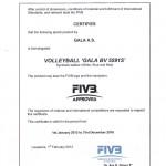 Gala certificate FIVB