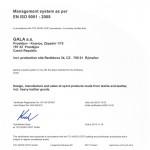 Gala certificate TUV NORD 1