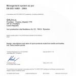 Gala certificate TUV NORD 2